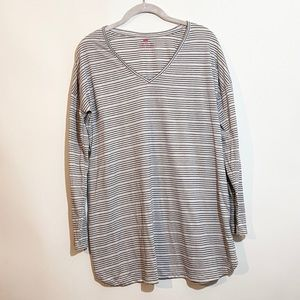 Two Hearts Maternity Stripe Shirt